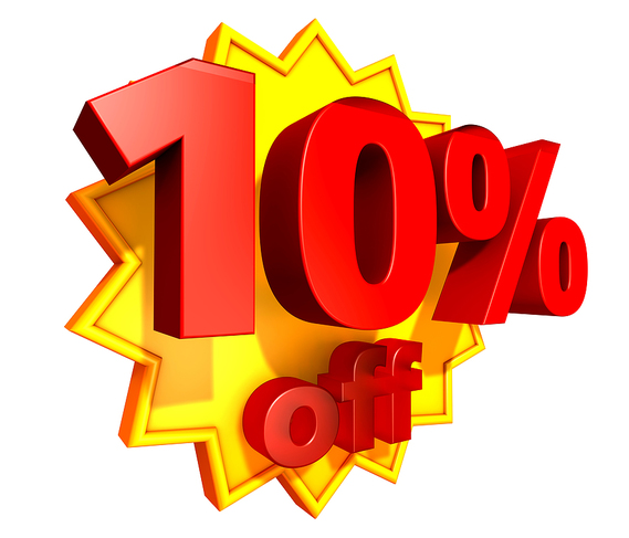 promo 10 percent discount bella vista